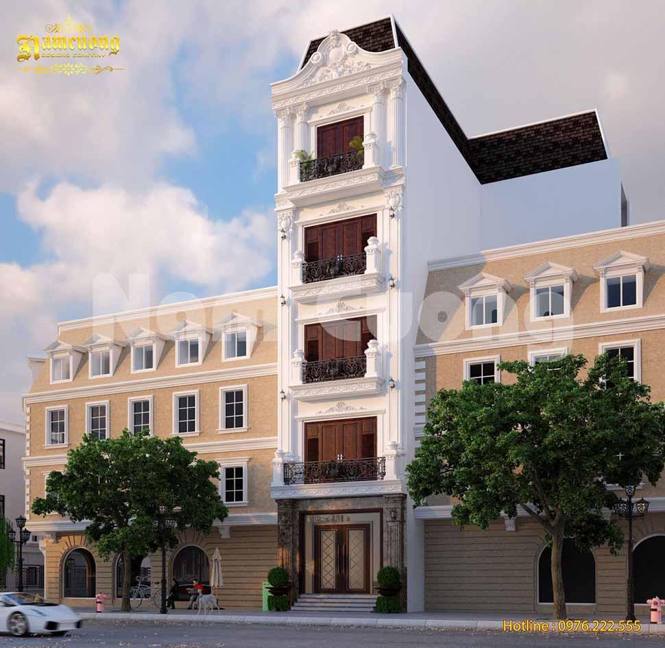 kiến trúc nhà phố 5m đẹp