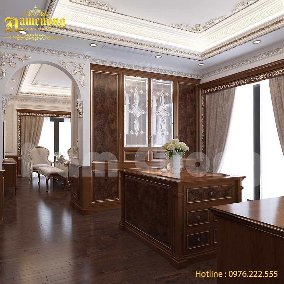 phòng thay đồ bằng gỗ