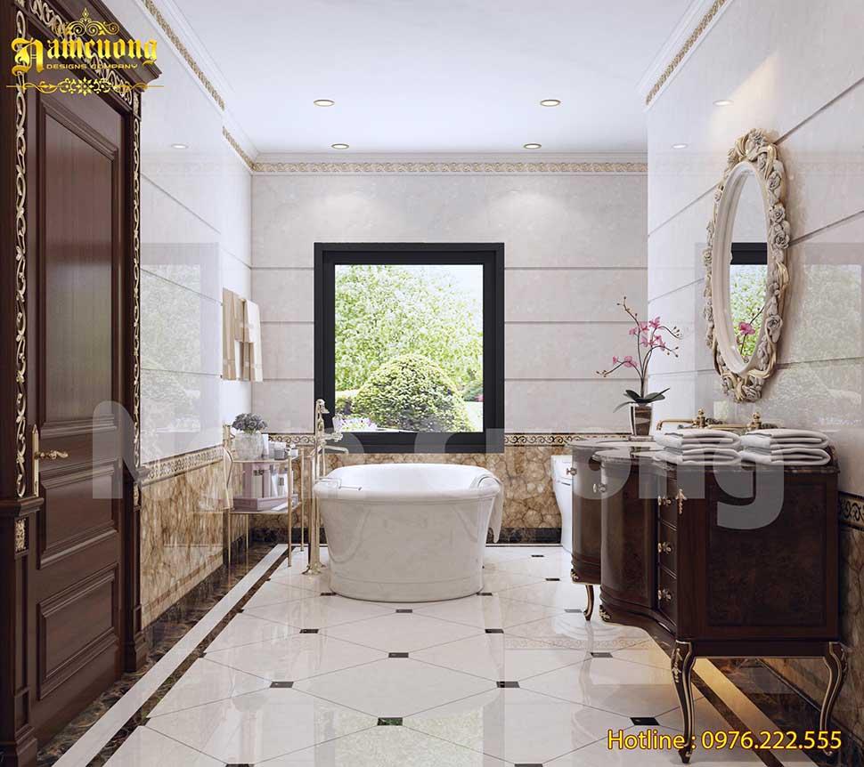 nội thất WC biệt thự 2 tầng 200m2