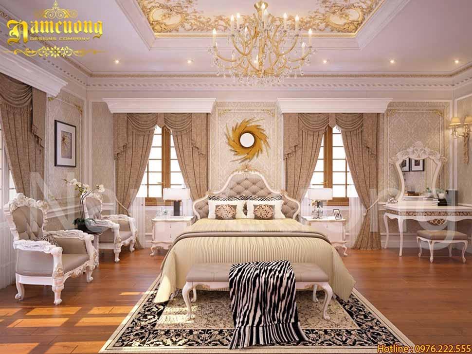 Nội thất phòng ngủ trong căn biệt thự