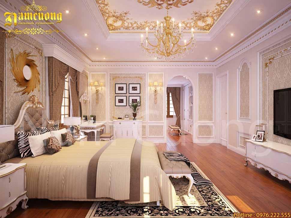 Một góc nhìn khác của phòng ngủ tân cổ điển