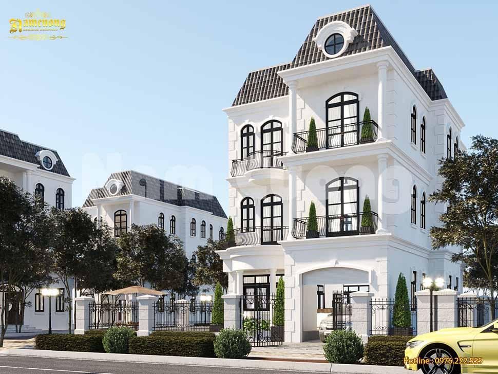 kiến trúc biệt thự 3 tầng tân cổ điển