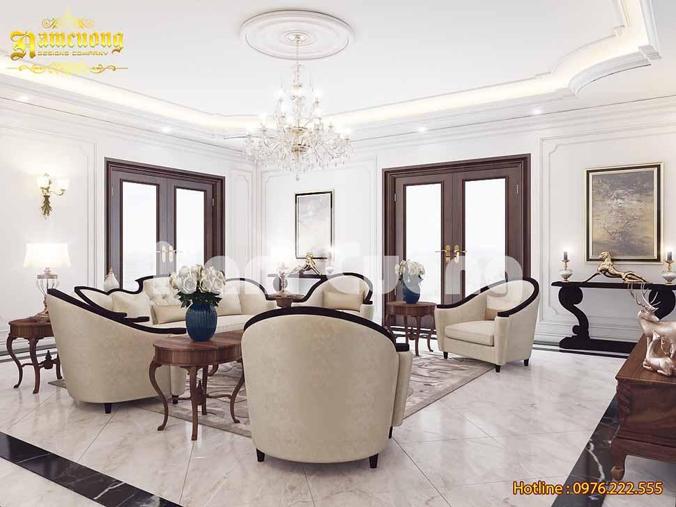 Thiết kế nội thất của biệt thự tân