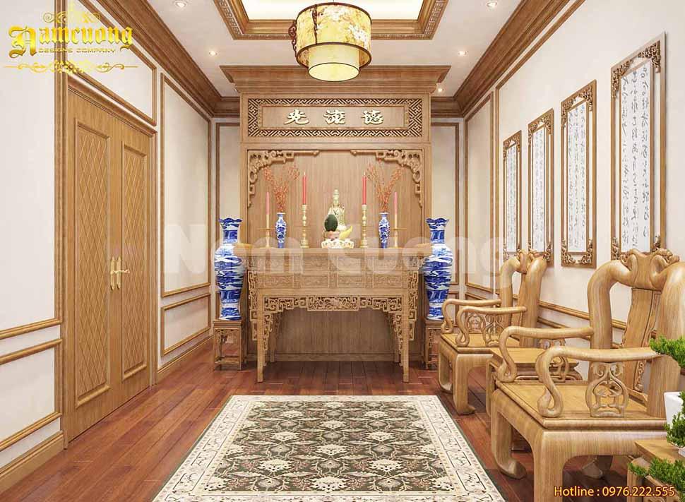 phòng thờ biệt thự đẹp