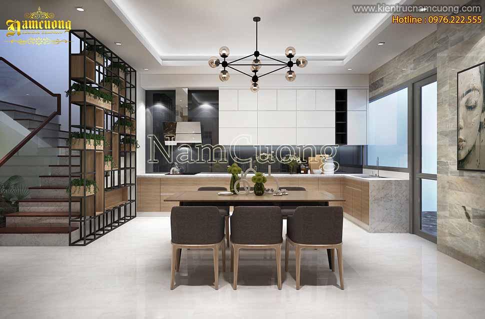 Nội thất phòng bếp trong biệt thự