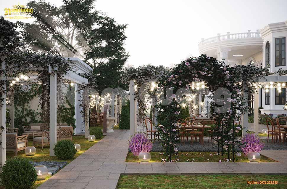 Mẫu nhà vườn kiểu Pháp