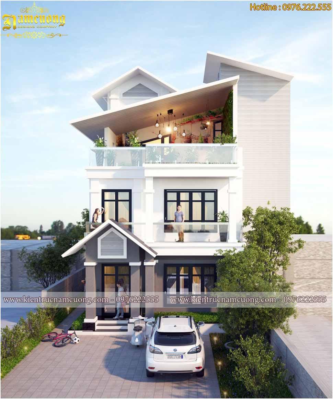 Mặt tiền nhà đẹp 3 tầng 100m2 tại Hưng Yên