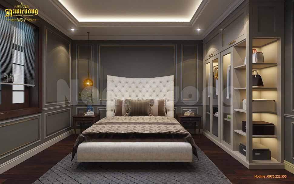 Phối cảnh một phòng ngủ khác trong căn biệt thự nhà vườn 500m2