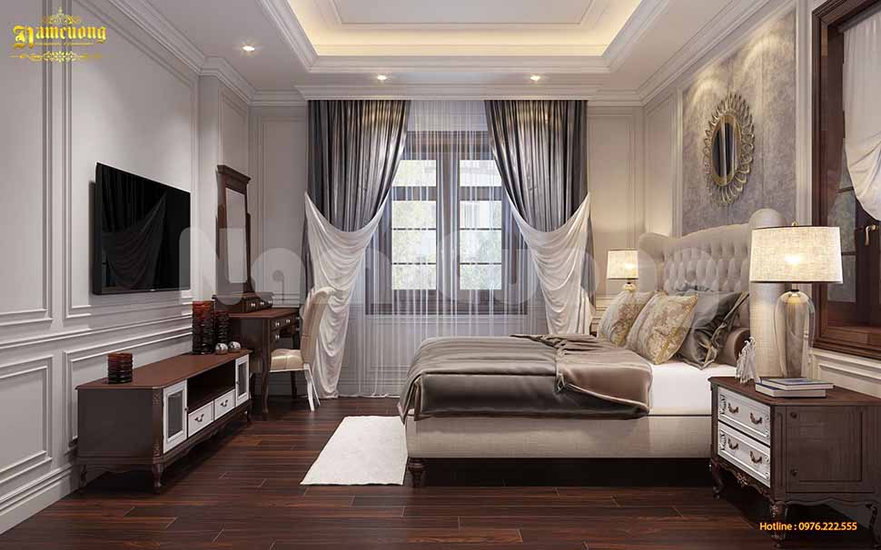 Không gian phòng ngủ của biệt thự nhà vườn 500m2