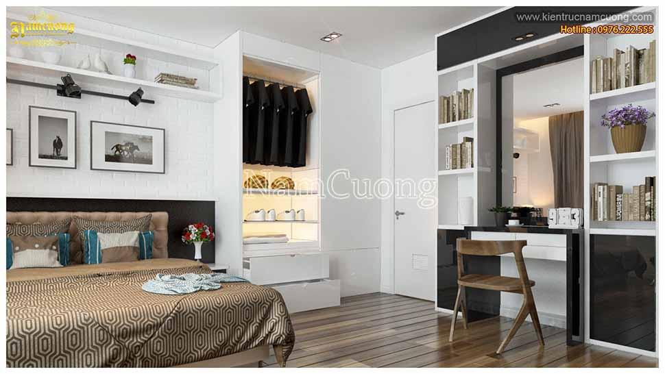 phòng ngủ kết hợp phòng đọc sách
