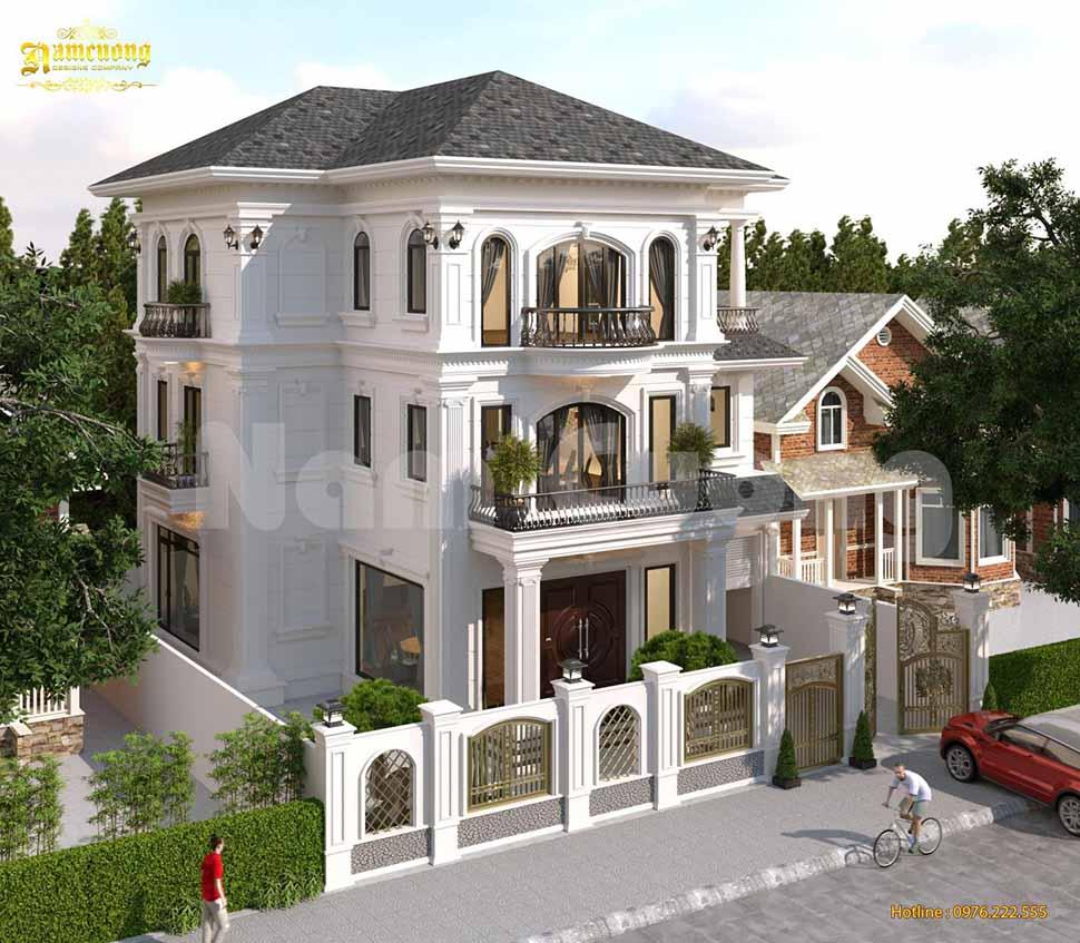 biệt thự mái thái 3 tầng