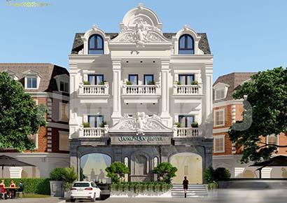 mẫu thiết kế khách sạn 3 sao mái bằng