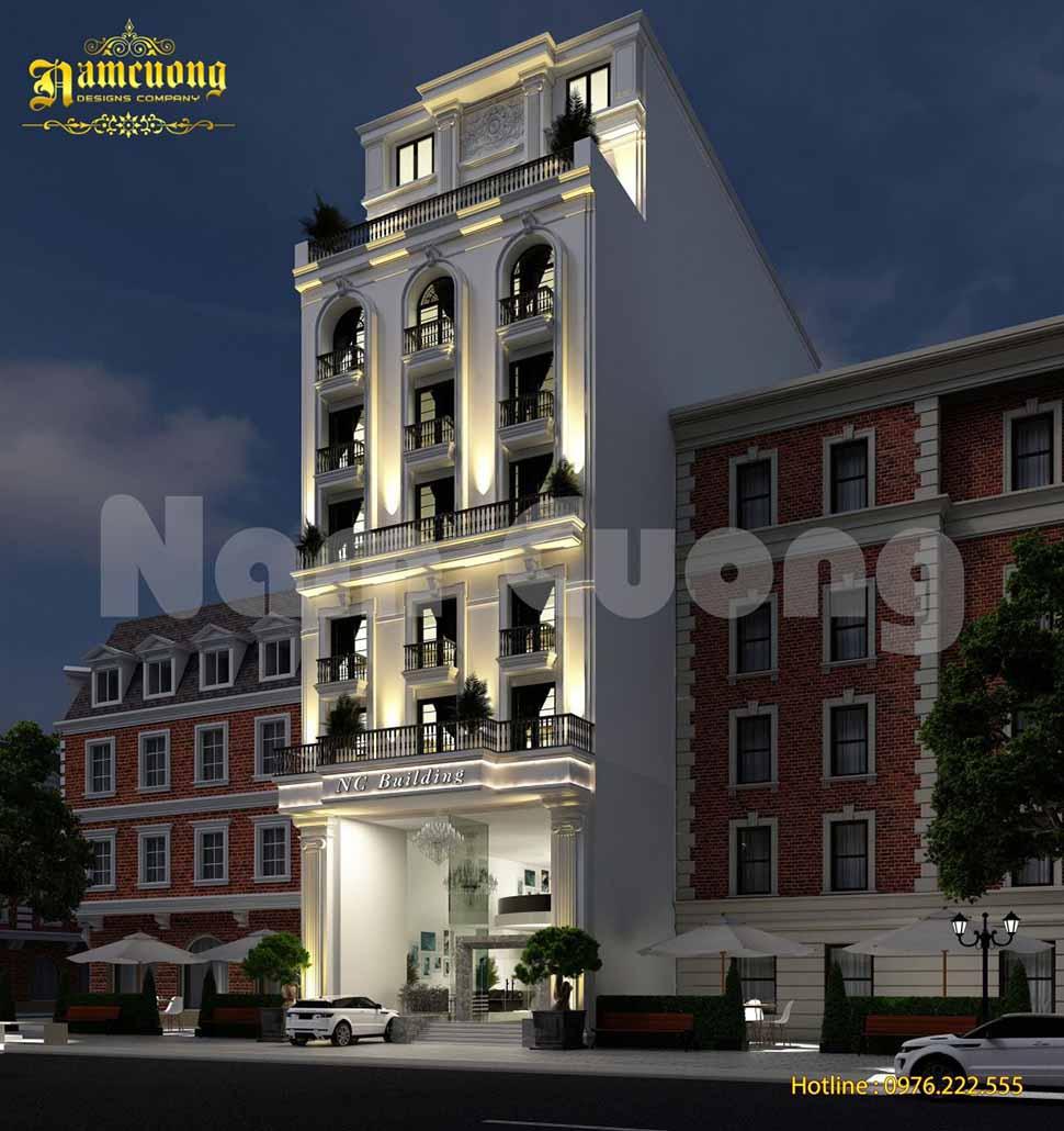 khách sạn mặt tiền 12m
