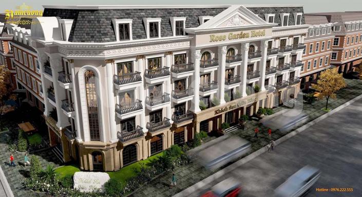 mẫu thiết kế khách sạn 3 sao tân cổ điển