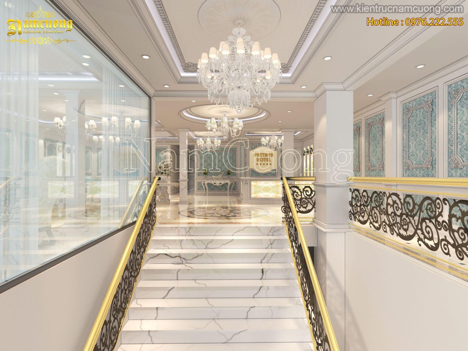 mẫu thiết kế khách sạn 4 sao mái bằng