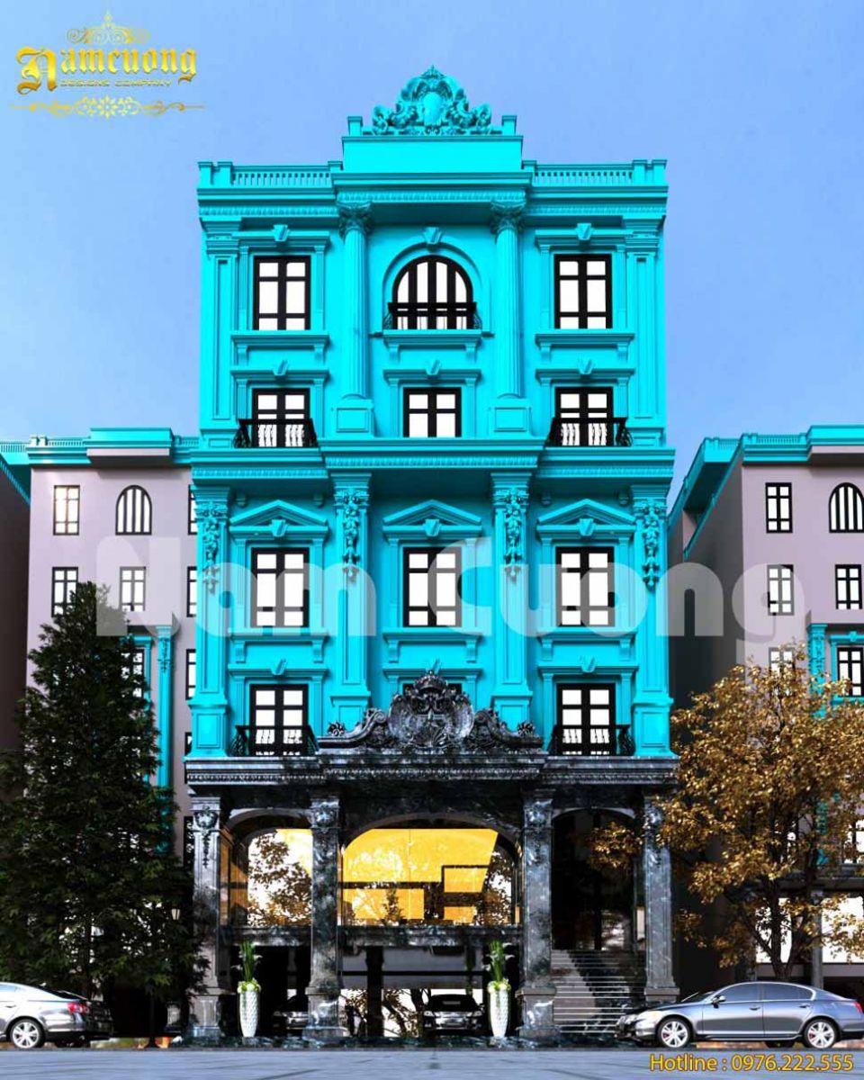 kiến trúc khách sạn mặt tiền 12m