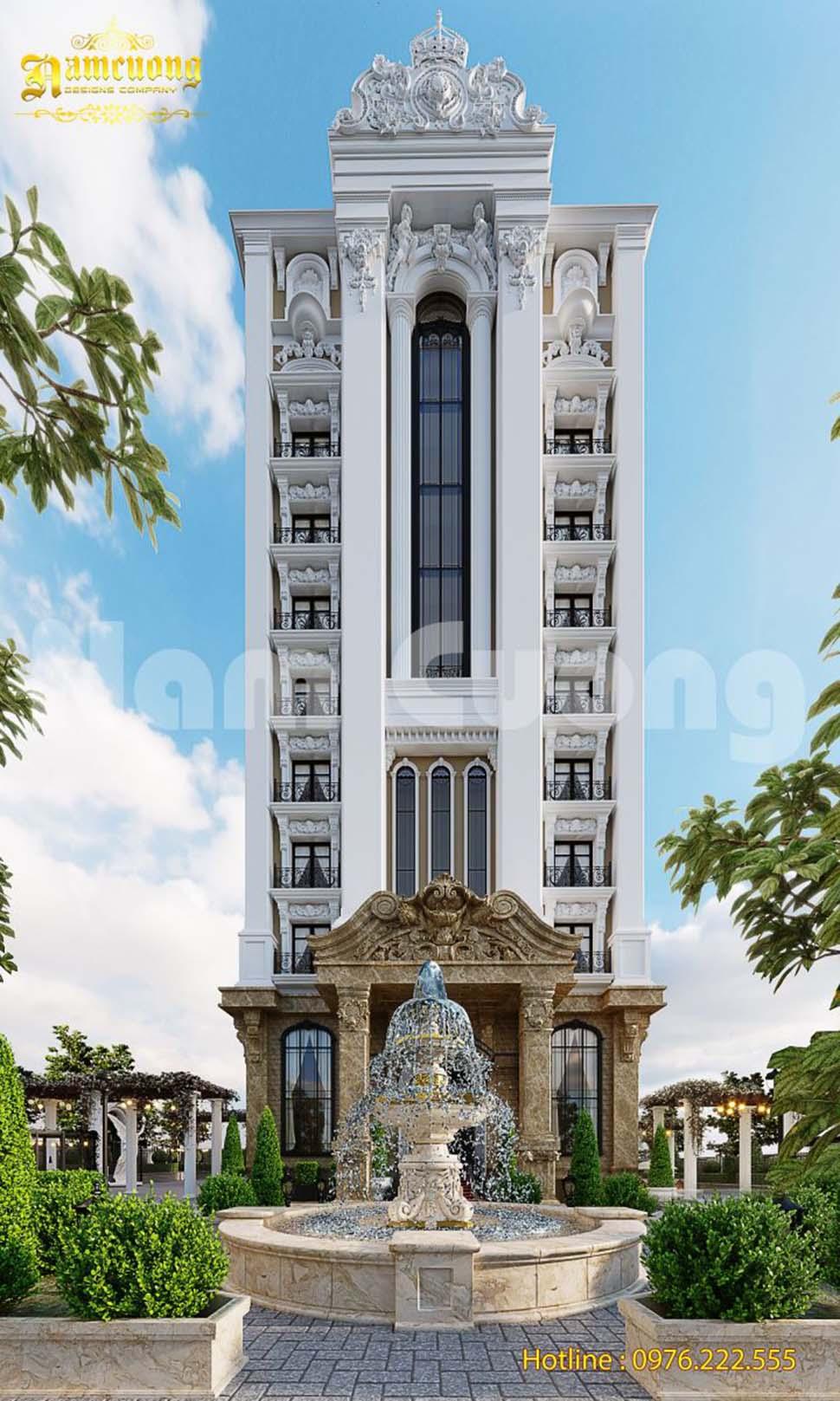 thiết kế khách sạn 5 sao mái bằng