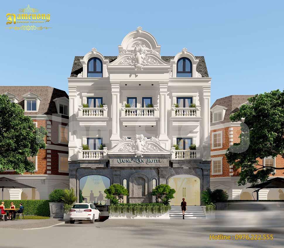 thiết kế khách sạn 4 tầng