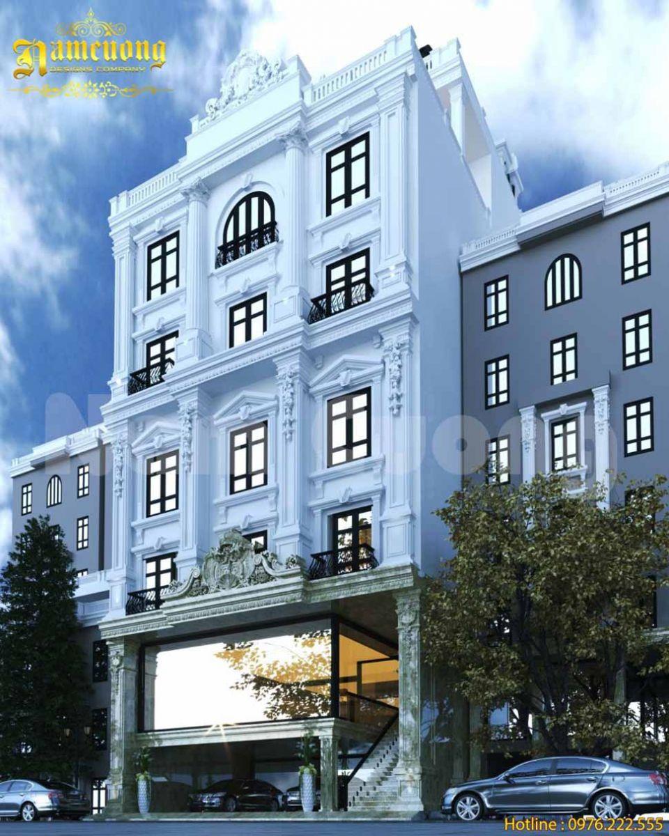 mặt tiền khách sạn tân cổ điển