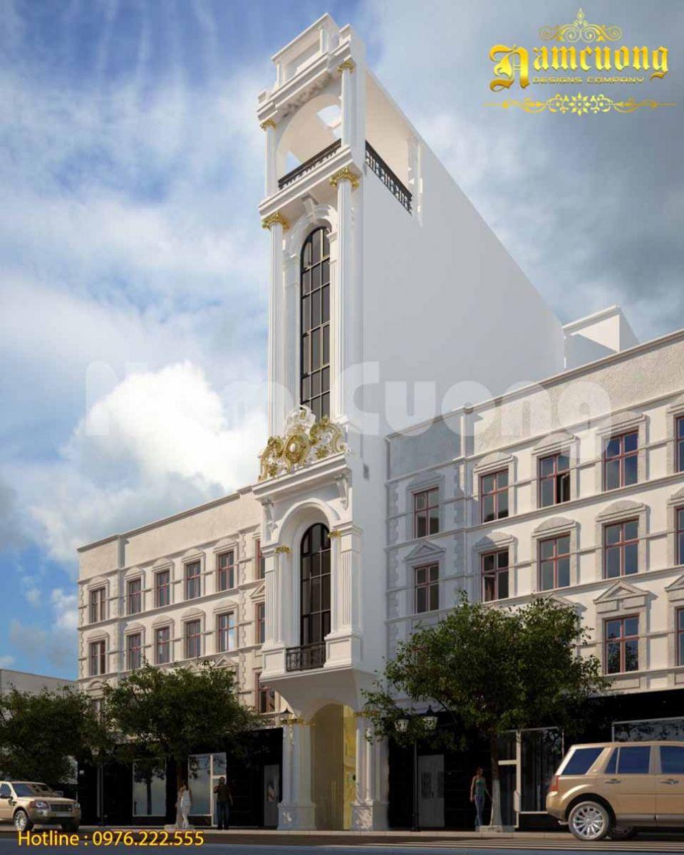 kiến trúc khách sạn mặt tiền 5m