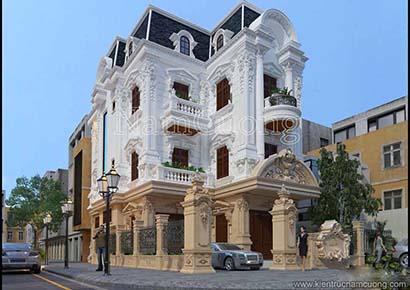 kiến trúc biệt thự pháp cổ đẹp