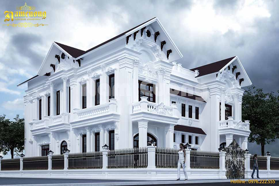 Biệt thự tân cổ điển với thiết kế mái dốc ấn tượng