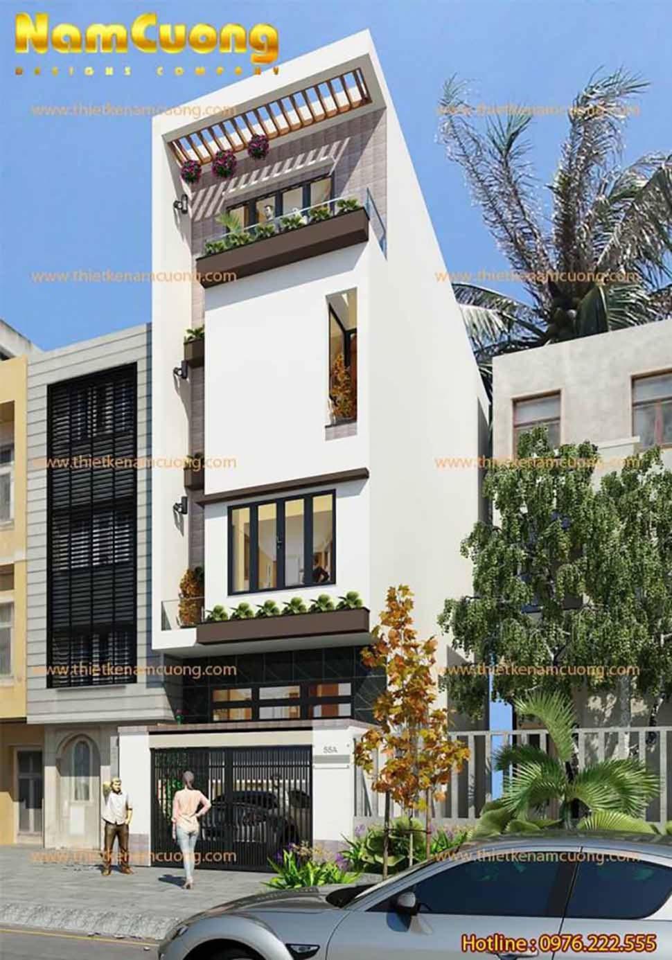 nhà phố đẹp 4 tầng