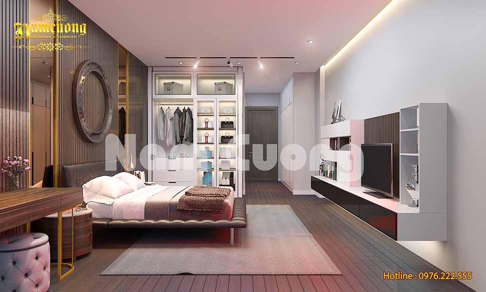 phòng ngủ 20m2 nhà phố