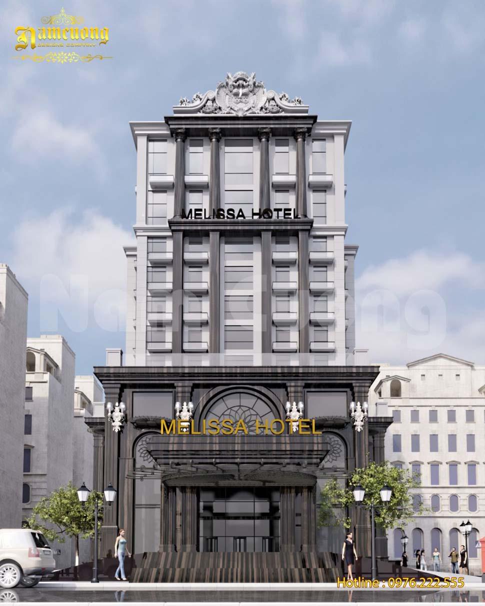 mẫu thiết kế khách sạn 5 sao tân cổ điển