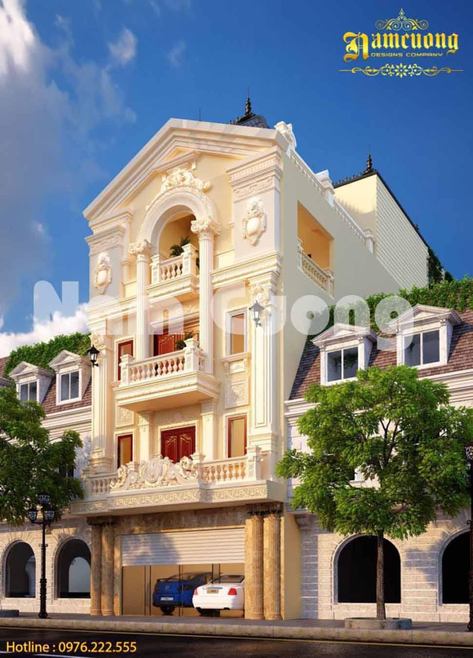 biệt thự tân cổ điển 4 tầng mái marsand tại Phú Yên