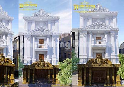 mẫu thiết kế nhà mặt tiền 8m mái bằng