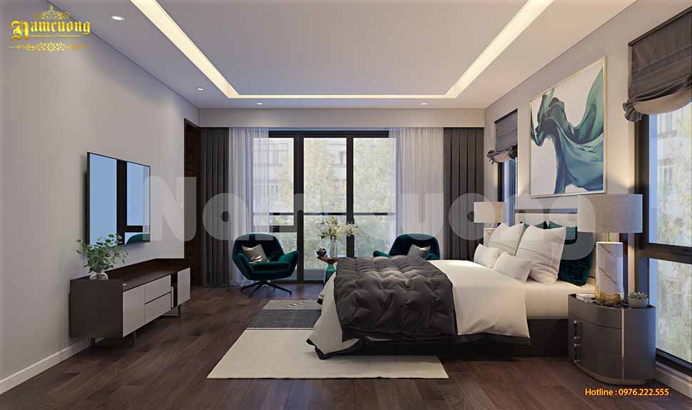 phòng ngủ nhà ống 2 tầng đẹp