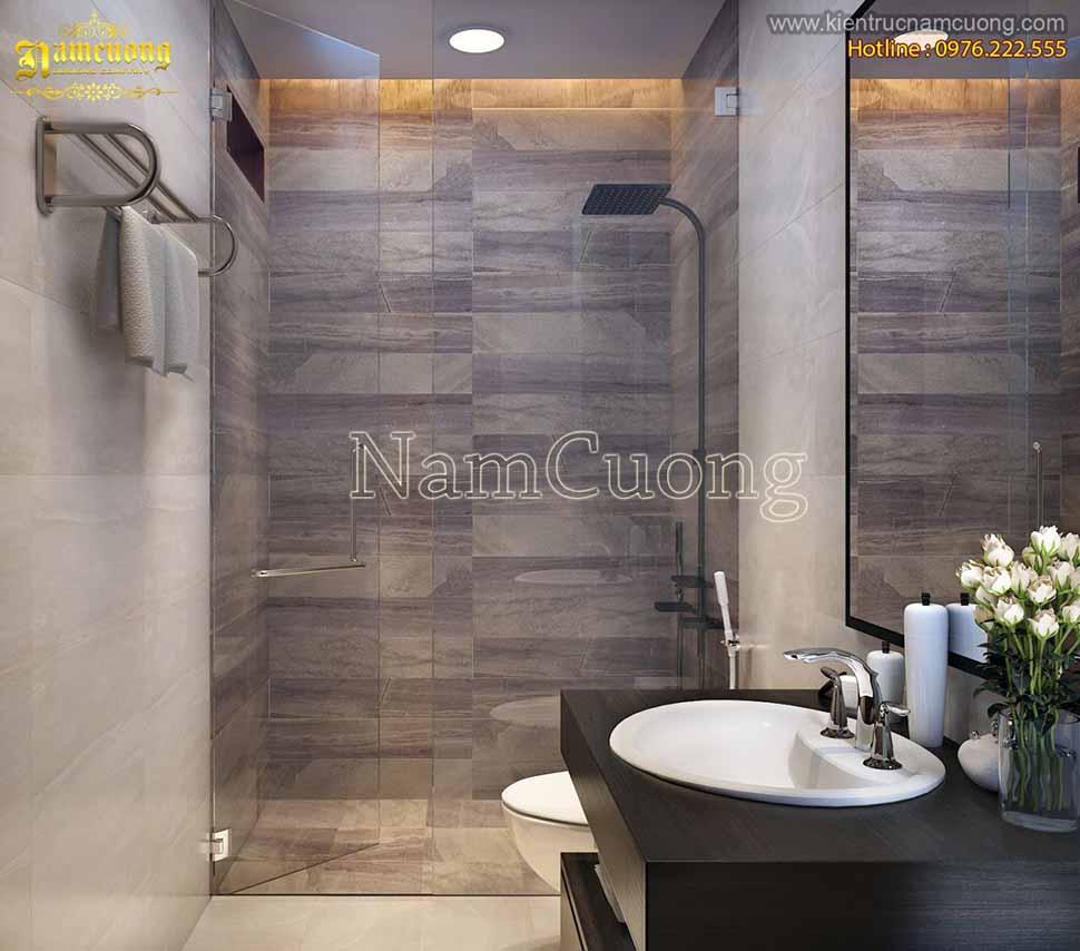 phòng tắm nhà ống