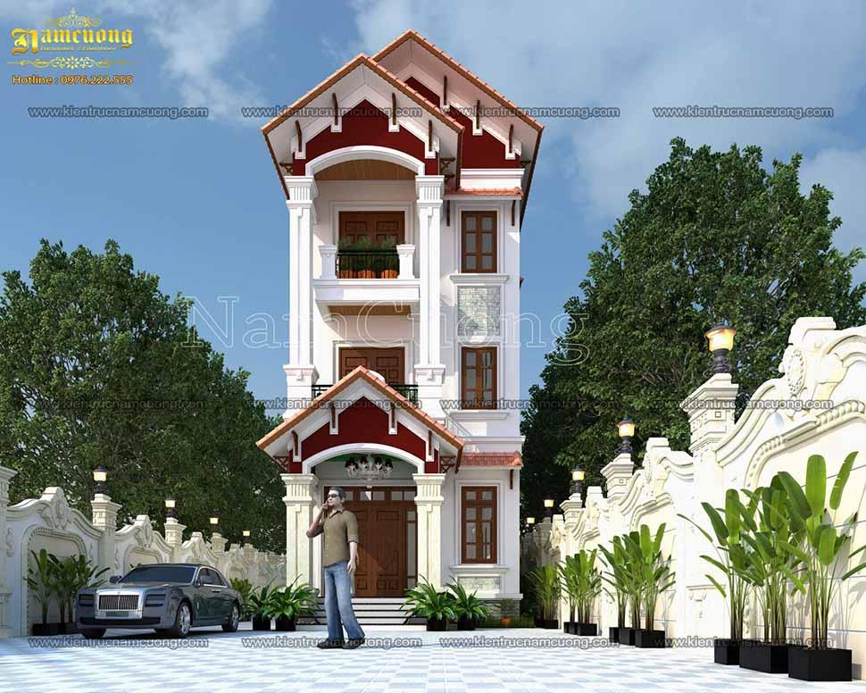 thiết kế nhà phố 4 tầng 4m