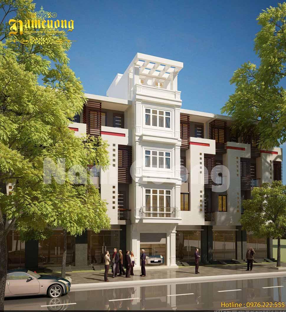 mẫu thiết kế nhà phố 4 tầng 4m