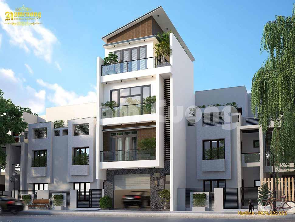 mẫu thiết kế nhà phố 4m tân cổ điển