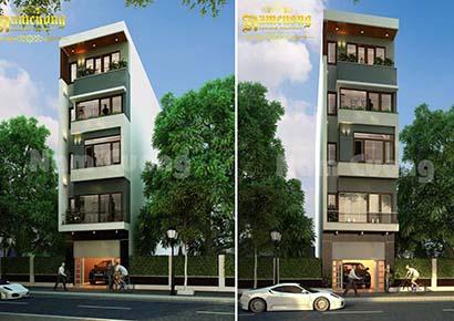 Mẫu thiết kế nhà phố 4mx15m