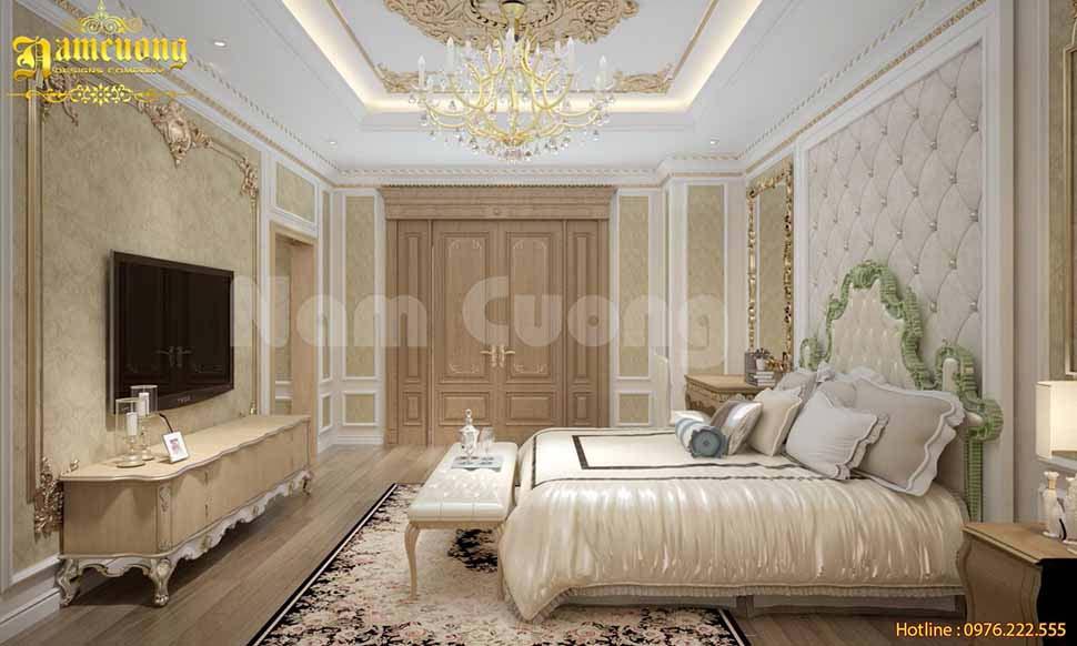 phòng ngủ nhà phố kiểu pháp