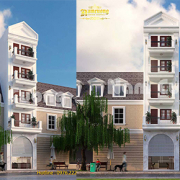 thiết kế nhà phố 5m tân cổ điển