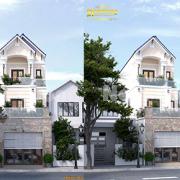 nhà phố mặt tiền 6m mái thái