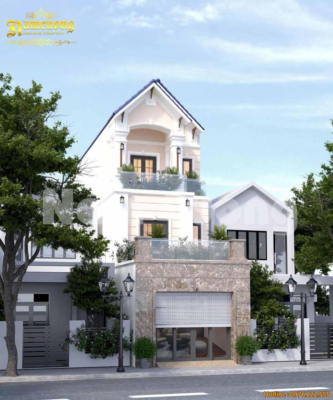 mẫu nhà phố 6m mái thái