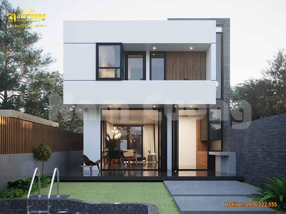 thiết kế nhà mặt tiền 8m hiện đại