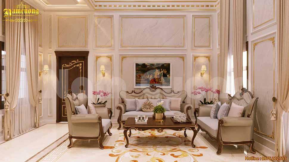 Nội thất phòng khách đẹp ở Lâm Đồng