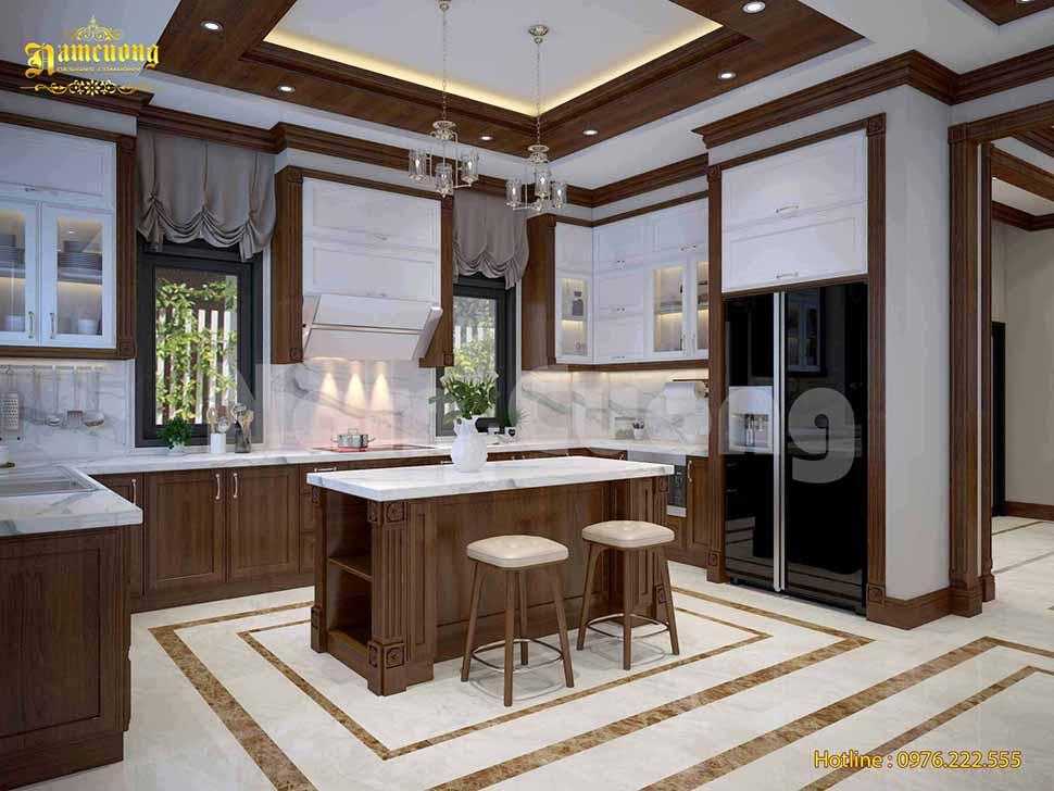 Thiết kế bếp ăn theo phong thuỷ tại Quảng Bình
