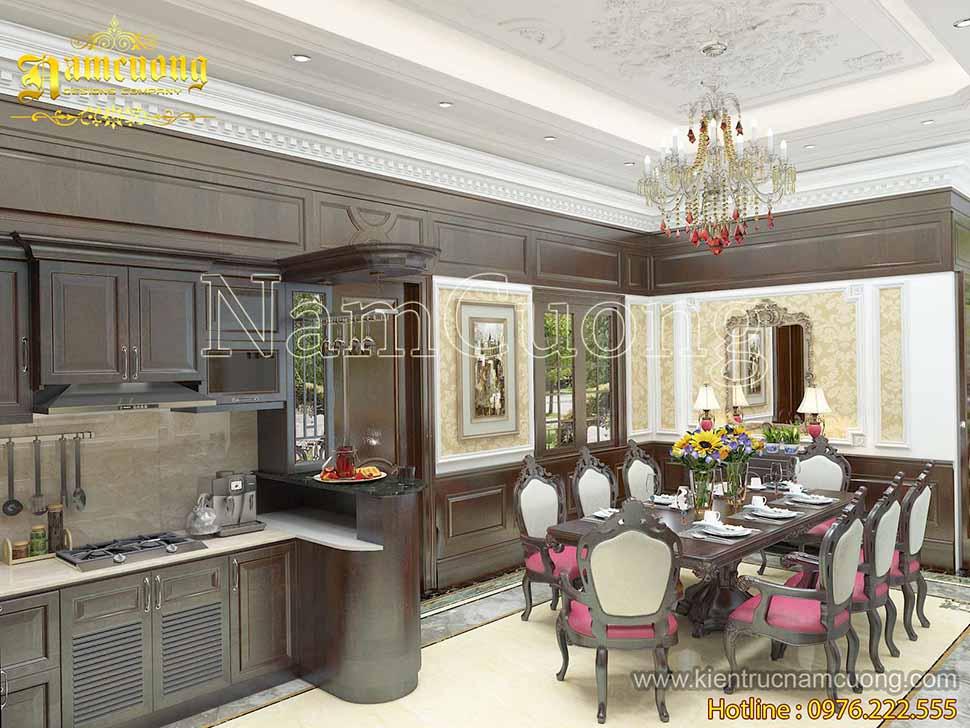 Phòng ăn siêu đẹp dành cho biệt thự tân cổ