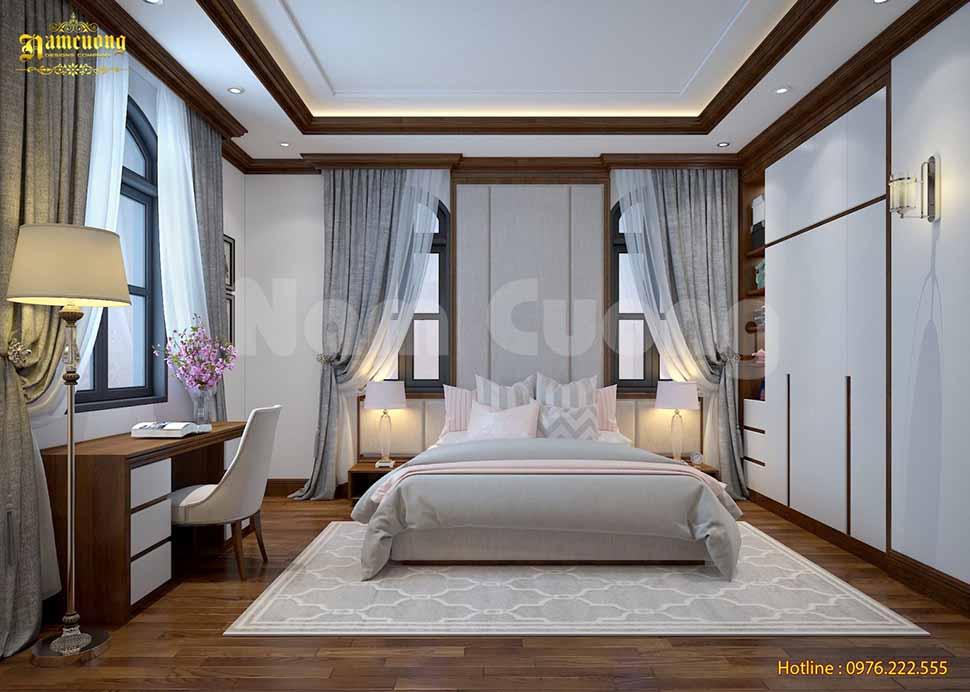 Nội thất phòng ngủ tân cổ điển đẹp tại Thái Bình