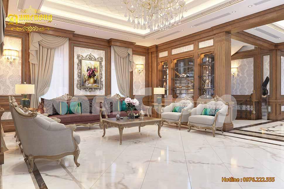 Mẫu phòng khách đẹp tại Thái Bình
