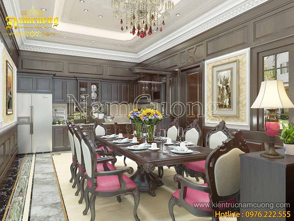 Thiết kế nội thất biệt thự tân cổ điển đẹp tại Quảng Ninh