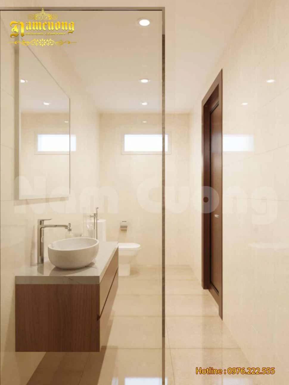 Nội thất phòng WC sang trọng khép kín
