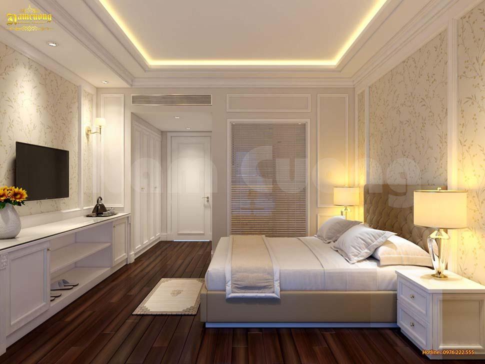 Phối cảnh 3D phòng ngủ khách sạn mini